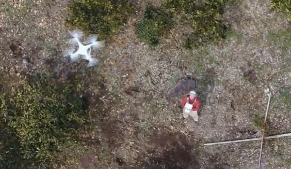 無人航空機の飛行実験