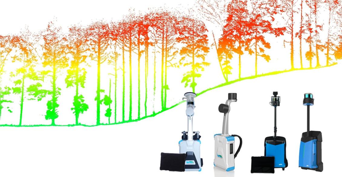 林業におけるLiBackPackの活用 データから樹高、樹冠、胸高直径、本数を記録する